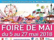 Foire de Mai à Metz Foire Attractive 57000 Metz du 05-05-2018 à 12:00 au 27-05-2018 à 19:00