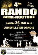Randonnée Semi-Nocturne à Luméville-en-Ornois 55130 Gondrecourt-le-Château du 26-05-2018 à 19:00 au 26-05-2018 à 23:00