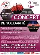 Concert de solidarité à Morsbach 57600 Morsbach du 09-06-2018 à 20:00 au 09-06-2018 à 22:00
