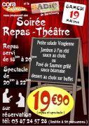 Soirée Repas Théâtre à Sarrebourg 57400 Sarrebourg du 19-05-2018 à 18:30 au 19-05-2018 à 22:00