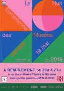 Nuit des Musées au Musée Charles de Bruyère Remiremont 88200 Remiremont du 19-05-2018 à 20:00 au 19-05-2018 à 23:00