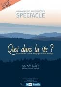 Quoi dans la Vie ? Théâtre à Bains-les-Bains 88240 Bains-les-Bains du 26-05-2018 à 20:30 au 26-05-2018 à 22:00