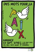 Manifestations Des Mots pour la Paix en Meurthe-et-Moselle Meurthe-et-Moselle du 01-06-2018 à 17:00 au 18-09-2018 à 18:00