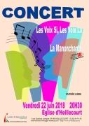 Concert de Chant Choral à Heillecourt 54180 Heillecourt du 22-06-2018 à 20:30 au 22-06-2018 à 22:30