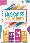 Les Musicales de Briey Concerts Gratuits 54150 Briey du 21-06-2018 à 18:00 au 04-08-2018 à 23:30