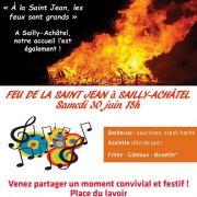 Feu de la Saint-Jean à Sailly-Achâtel 57420 Sailly-Achâtel du 30-06-2018 à 18:00 au 01-07-2018 à 01:00