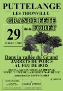 Grande Fête de la Forêt Puttelange-lès-Thionville 57570 Puttelange-lès-Thionville du 29-07-2018 à 11:00 au 29-07-2018 à 21:00