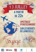 Fête Nationale et Feu d'Artifice à Thionville  57100 Thionville du 13-07-2018 à 22:00 au 14-07-2018 à 17:00