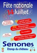 Fête Nationale et Feu d'Artifice à Senones 88210 Senones du 14-07-2018 à 19:00 au 15-07-2018 à 01:00