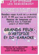 Feu d'Artifice à Saint-Étienne-lès-Remiremont 88200 Saint-Étienne-lès-Remiremont du 13-07-2018 à 21:45 au 13-07-2018 à 23:59