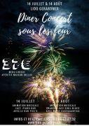 Dîner-Concert Feux d'Artifice Gérardmer 14 Août 88400 Gérardmer du 14-08-2018 à 19:30 au 14-08-2018 à 23:59