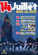 Feu d'Artifice du 14 Juillet à Bar-le-Duc 55000 Bar-le-Duc du 14-07-2018 à 23:00 au 15-07-2018 à 02:00