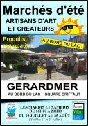 Marchés d'Été Artisans d'Art et Créateurs à Gérardmer 88400 Gérardmer du 10-07-2018 à 16:00 au 25-08-2018 à 20:00