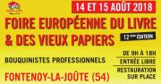 Foire du Livre à Fontenoy-la-Joûte et Vieux Papiers 54122 Fontenoy-la-Joûte du 14-08-2018 à 09:00 au 15-08-2018 à 18:00