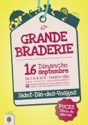 Grande Braderie de Saint-Dié-des-Vosges 88100 Saint-Dié-des-Vosges du 16-09-2018 à 08:00 au 16-09-2018 à 19:30