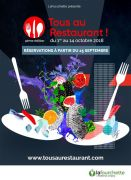 Opération Tous au Restaurant en Lorraine  Lorraine, Meuse, Meurthe-et-Moselle, Vosges, Moselle du 01-10-2018 à 10:00 au 14-10-2018 à 20:00