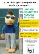 Atelier Marionnettes Adultes MJC 3 Maisons à Nancy 54000 Nancy du 10-09-2018 à 19:00 au 28-06-2019 à 20:30