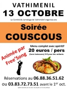 Soirée Couscous avec Concert à Vathiménil  54122 Vathiménil du 13-10-2018 à 20:00 au 13-10-2018 à 23:59