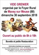 Vide-grenier à Maxey-sur-Meuse 88630 Maxey-sur-Meuse du 30-09-2018 à 08:00 au 30-09-2018 à 18:00