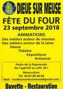 Fête du Four à Dieue-sur-Meuse  55320 Dieue-sur-Meuse du 23-09-2018 à 10:00 au 23-09-2018 à 18:00