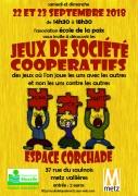 Après-midis Jeux de Société Coopératifs à Vallières-lès-Metz 57000 Metz du 22-09-2018 à 14:30 au 23-09-2018 à 18:30