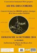 Concert Au Fil Des Cordes à Nancy 54000 Nancy du 14-10-2018 à 16:00 au 14-10-2018 à 17:30