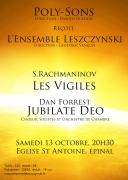 10 ans Ensemble Leszczynski à Épinal 88000 Epinal du 13-10-2018 à 20:45 au 13-10-2018 à 22:30