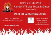 Relai VTT du Poilu Rando VTT des Têtes Brûlées Saint-Mihiel 55300 Saint-Mihiel du 29-09-2018 à 19:00 au 30-09-2018 à 08:30