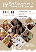 Fête Régionale de la Truffe à Pont-à-Mousson 54700 Pont-à-Mousson du 16-11-2018 à 20:00 au 18-11-2018 à 18:00