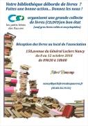 Collecte de Livres, CD et DVD à Nancy 54000 Nancy du 08-10-2018 à 09:30 au 12-10-2018 à 18:00