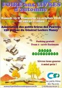 Foire aux Livres d'Automne à Nancy 54000 Nancy du 13-10-2018 à 08:30 au 14-10-2018 à 18:00