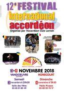 Festival International Accordéon Lorraine FIA 2018 Vandoeuvre-lès-Nancy, Homécourt du 03-11-2018 à 20:30 au 04-11-2018 à 19:00