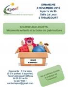 Bourse aux Jouets Vêtements Puériculture à Thiaucourt  54470 Thiaucourt-Regniéville du 04-11-2018 à 09:00 au 04-11-2018 à 17:00