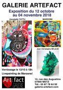 Exposition d'Artistes à Metz Galerie Artefact 57000 Metz du 12-10-2018 à 18:00 au 04-11-2018 à 19:00