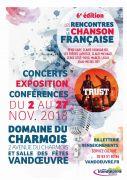 Rencontres de la Chanson Française à Vandoeuvre-lès-Nancy 54500 Vandoeuvre-lès-Nancy du 02-11-2018 à 20:30 au 27-11-2018 à 23:59