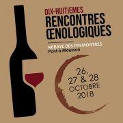 Rencontres Oenologiques aux Prémontrés Pont-à-Mousson 54700 Pont-à-Mousson du 26-10-2018 à 15:00 au 28-10-2018 à 17:00