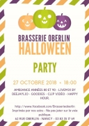 Halloween Party à Nancy Brasserie Oberlin 54000 Nancy du 27-10-2018 à 18:00 au 28-10-2018 à 01:00