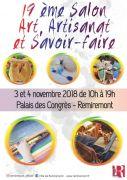 Salon Art Artisanat et Savoir-Faire à Remiremont 88200 Remiremont du 03-11-2018 à 10:00 au 03-11-2018 à 19:00