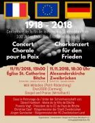Concert Franco-Allemand à Bitche 57230 Bitche du 11-11-2018 à 15:00 au 11-11-2018 à 16:30