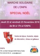 Marché Solidaire de Noël à Nancy 54000 Nancy du 22-11-2018 à 09:00 au 23-11-2018 à 17:00