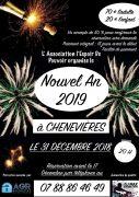 Soirée Réveillon Nouvel An à Chenevières 54300 Lunéville du 31-12-2018 à 20:00 au 01-01-2019 à 02:00