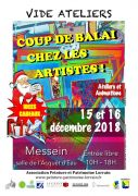 Coup de Balai chez les Artistes à Messein 54850 Messein du 15-12-2018 à 10:00 au 16-12-2018 à 18:00