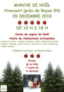 Marché de Noël à Virecourt 2018 54290 Virecourt du 09-12-2018 à 10:00 au 09-12-2018 à 18:00