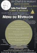 Réveillon Nouvel An à Corny-sur-Moselle 57680 Corny-sur-Moselle du 31-12-2018 à 19:30 au 01-01-2019 à 06:00