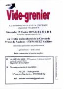 Vide-Grenier à Metz 57000 Metz du 17-02-2019 à 08:30 au 17-02-2019 à 16:00