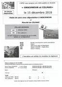 Visite Guidée en Alsace avec Marché de Noël de Colmar 54840 Velaine-en-Haye du 15-12-2018 à 06:45 au 15-12-2018 à 20:00