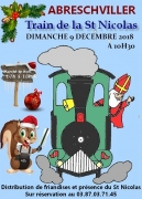 Train de la Saint-Nicolas à Abreschviller 57560 Abreschviller du 09-12-2018 à 10:30 au 09-12-2018 à 11:30