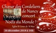 Concert Noëls du Monde à Saint-Max 54130 Saint-Max du 16-12-2018 à 16:00 au 16-12-2018 à 18:00