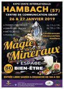 Salon des minéraux, créations, bien-être et artisanat 57910 Hambach du 26-01-2019 à 11:00 au 27-01-2019 à 19:00