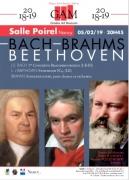 Concert Bach, Brahms et Beethoven à Nancy 54000 Nancy du 05-02-2019 à 20:45 au 05-02-2019 à 22:30